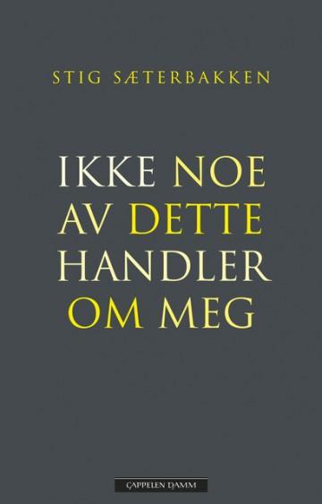 Stig Sæterbakken: IKKE NOE AV DETTE HANDLER OM MEG