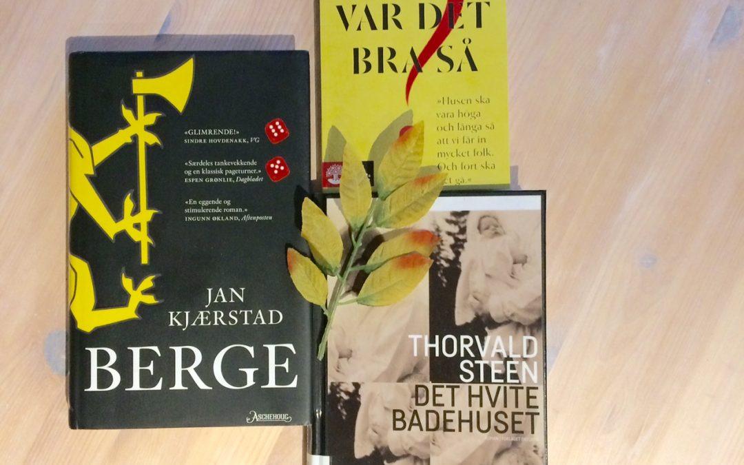 Bøker når snøen kommer